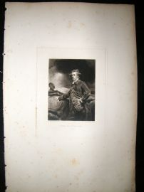 After Joshua Reynolds C1830 Folio Mezzotint. Lord R. Cavendish